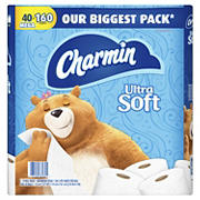 Charmin Ultra Soft Bathroom Tissue Mega Rolls, 40 ct.