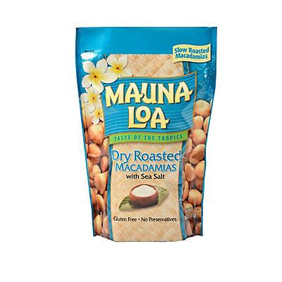 Mauna Loa Dry Roasted Macadamia Nuts with Sea Salt, 10 oz.