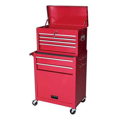 Gstandard 2-Pc. Rolling Tool Storage Chest - Red