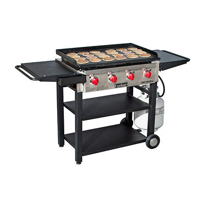 Camp Chef Flat Top 4-Burner Propane Grill and Griddle with Grill Cover