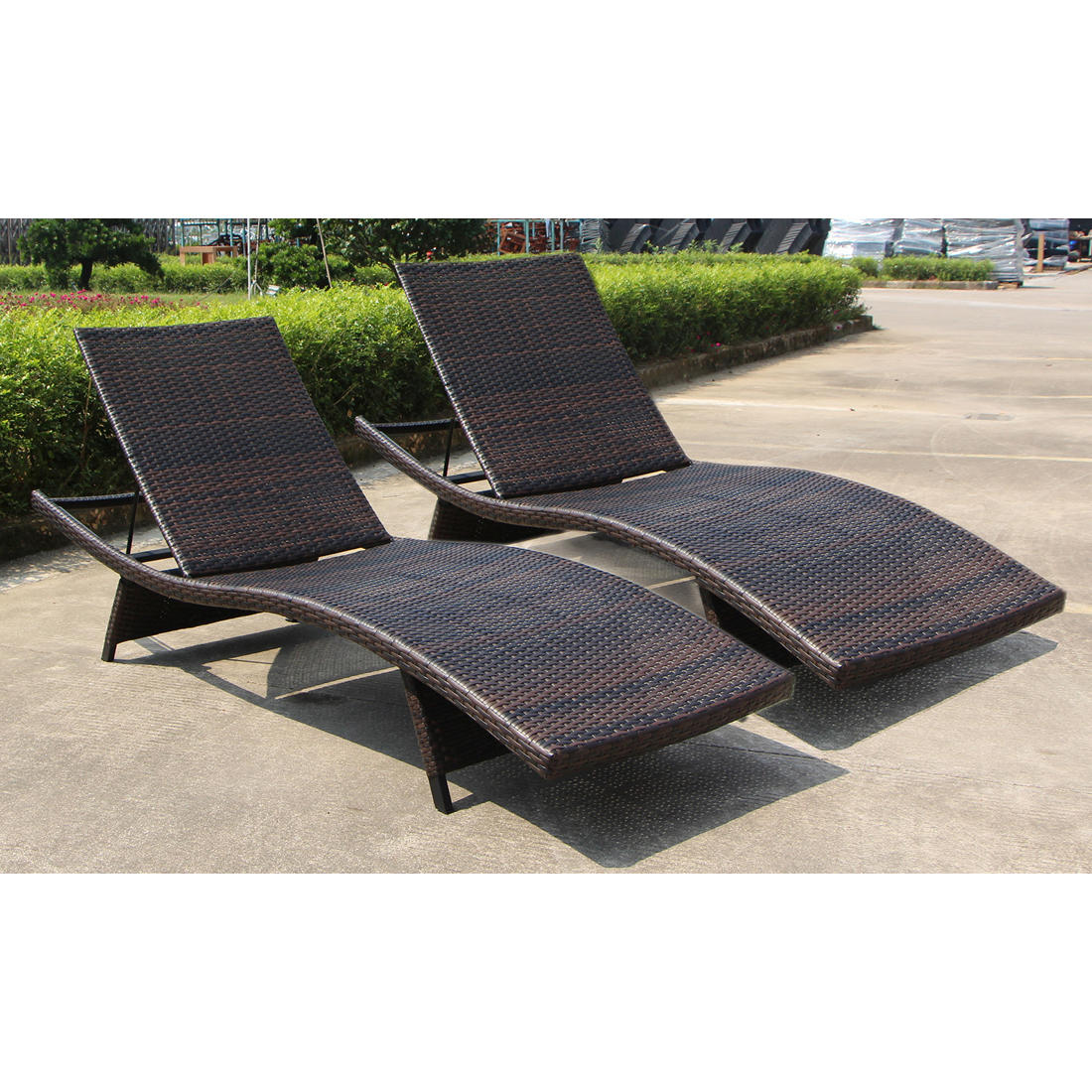 Admirable Berkley Jensen Wicker Chaise 2 Pk Brown Ibusinesslaw Wood Chair Design Ideas Ibusinesslaworg