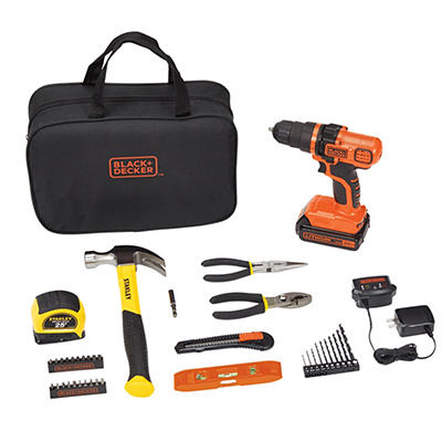 Black & Decker and Stanley 39-Pc. Project Kit