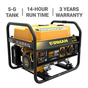 Firman P03605 Gas-Powered Generator, 4,550 Peak Watts, 3,650 Running Watts