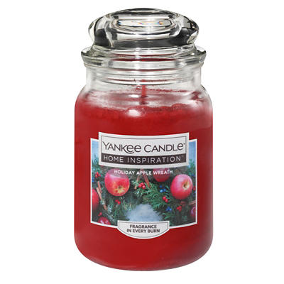 Yankee Candle Holiday Apple Wreath Candle, 19 oz.