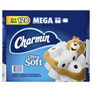 Charmin Ultra Soft 284-Sheet 2-Ply Bathroom Tissue Mega Rolls, 32 ct.