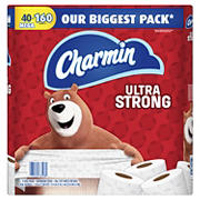 Charmin Ultra Strong 286-Sheet 2-Ply Bathroom Tissue Mega Rolls, 40 pk.