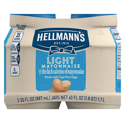 Hellmann's Light Mayonnaise, 2 ct./30 oz.