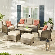 Berkley Jensen Casco Bay 6PC Aluminum Deep Seating Set- Beige