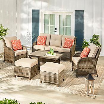 Berkley Jensen Casco Bay 6 Pc Deep, Bjs Patio Furniture
