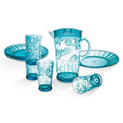 Coastal 9-Pc. Acrylic Drinkware and Plate Set