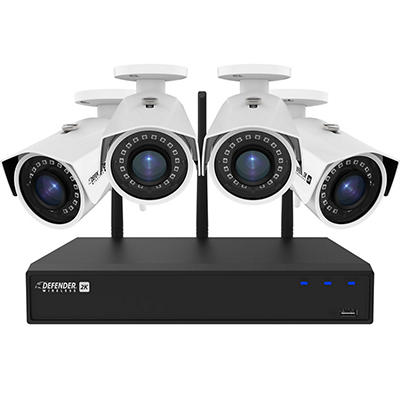 Defender 4-Channel 4-Camera 4MP Wireless Security System with 1TB HDD NVR