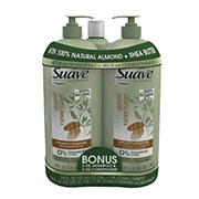 Suave Professionals Almond and Shea Shampoo and Conditioner, 2 pk./40 oz. with 3 oz. Shampoo and Conditioner Bonus