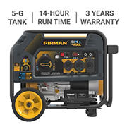 Firman  4,550W Peak/3,650W Rated Dual-Fuel Electric Start Portable Generator