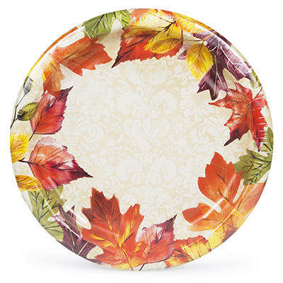 "Artstyle Fall Damask 10.3"" Paper Plates, 40 ct."