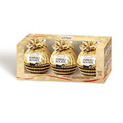 Grand Ferrero Rocher Milk Chocolate and Hazelnut Ornaments, 3 pk.
