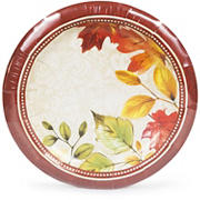 "Artstyle Fall Damask 7.3"" Paper Plates, 75 ct."