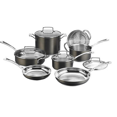 Cuisinart 11-Pc. Black Stainless Cookware Collection
