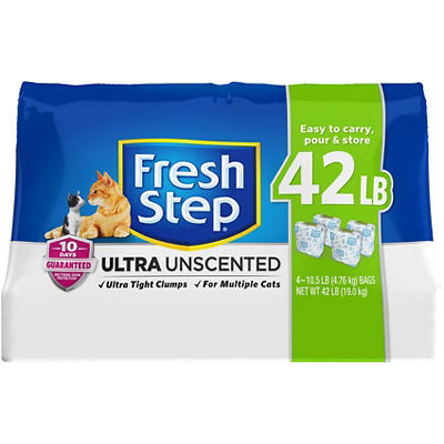 Fresh Step Ultra Unscented Clumping Cat Litter, 42 lbs.