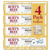 Burt's Bees Enamel Care Mountain Mint Fluoride Toothpaste, 4 pk./4.7 oz.