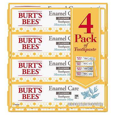 Burt's Bees Enamel Care Mountain Mint Fluoride Toothpaste, 4 pk./4.7 o