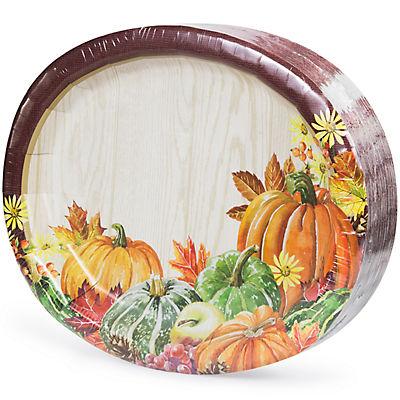 Artstyle Heartland Harvest Oval Plates, 35 ct.