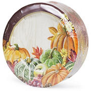 Artstyle Heartland Harvest Round Plates, 75 ct.