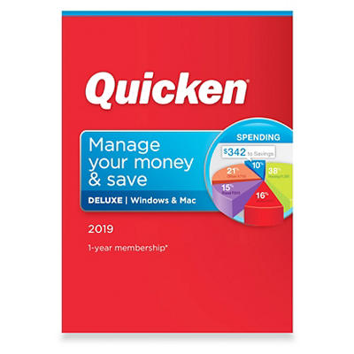 Quicken Deluxe 2019, 1 Year