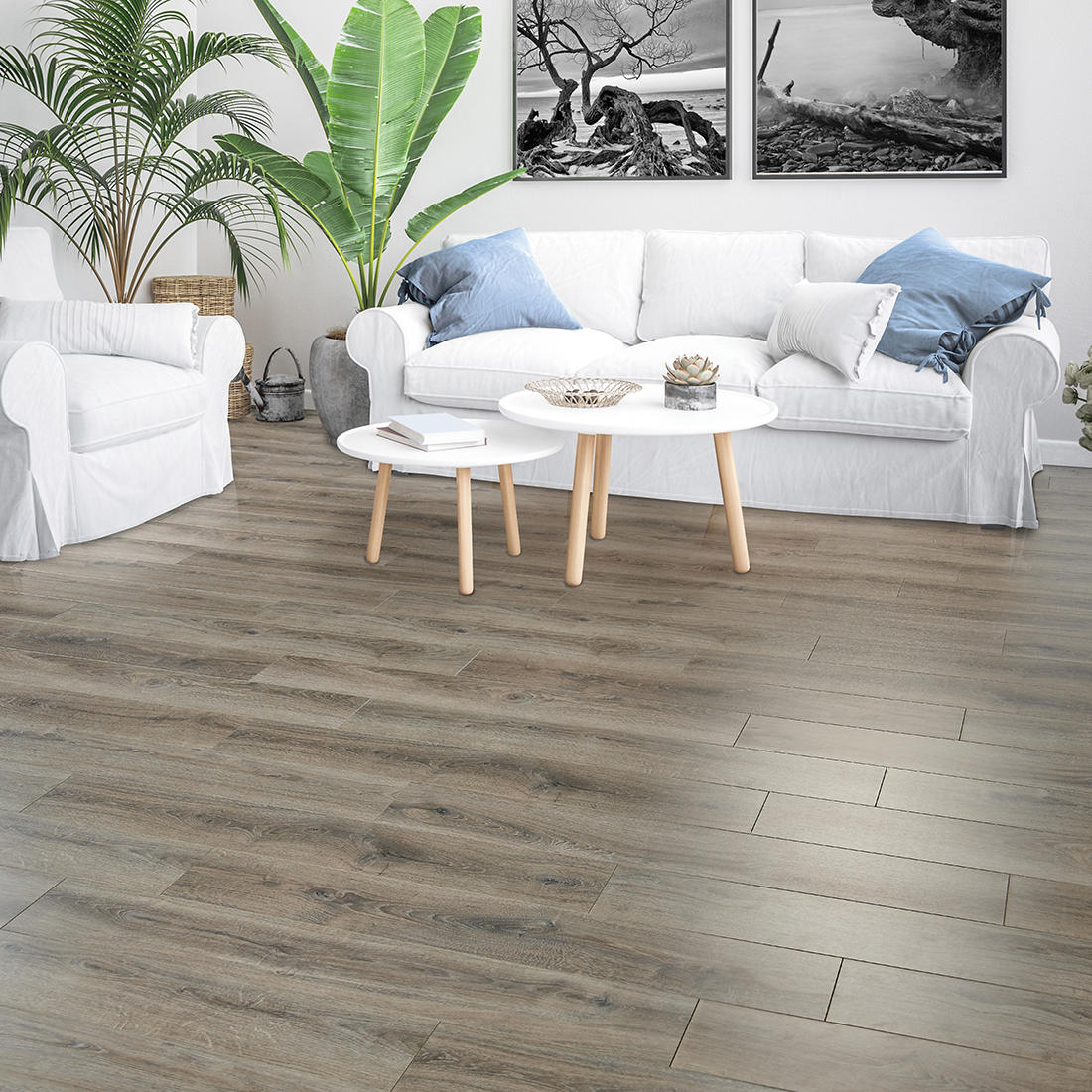 Creative Surfaces 10mm Laminate Flooring Coastal Gray Bjs Wholesale Club