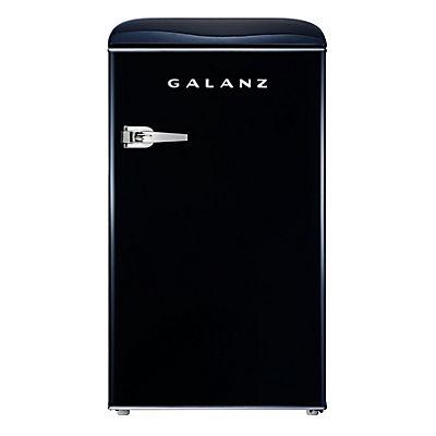 Galanz 3.5-Cu.-Ft. Retro Compact Refrigerator - Vinyl Black