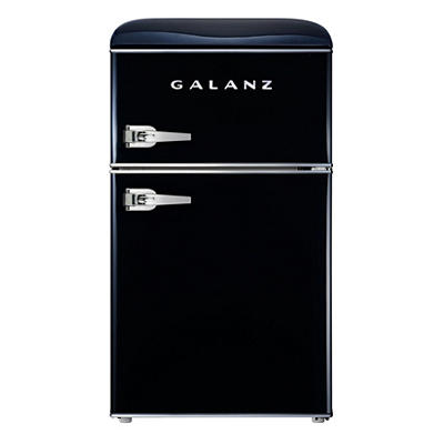 Galanz 3.1-Cu.-Ft. Retro Compact Refrigerator - Vinyl Black