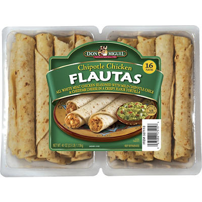 DON MIGUEL Chipotle Chicken Flautas, 16 ct.