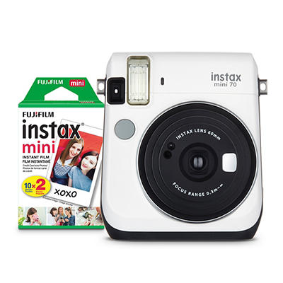 Fujifilm INSTAX Mini 70 with Mini Film - White
