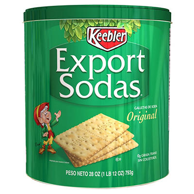 Keebler Export Soda Crackers Tin, 28 oz.