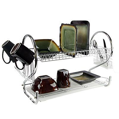 "MegaChef 16"" 2-Shelf Dish Rack"
