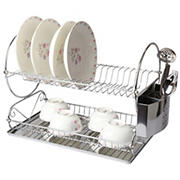 "MegaChef Chrome 17.5"" Dish Rack"
