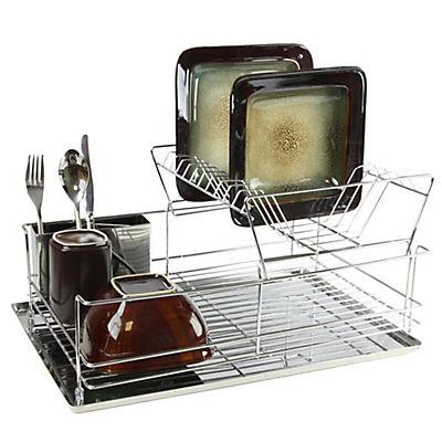 "MegaChef 15.5"" Stainless Dish Rack"