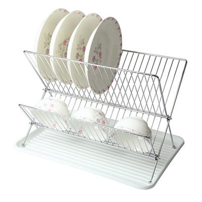 MegaChef Wire Dish Rack with Plastic Tray