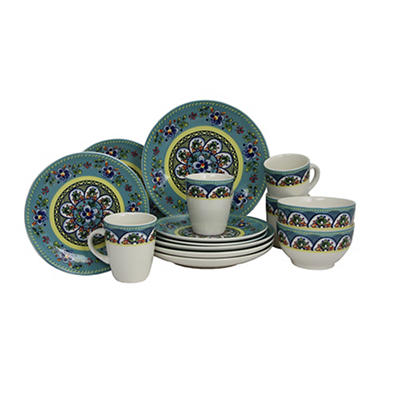 Elama Santa Fe Springs 16-Pc. Dinnerware Set