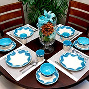 Elama Seashore Breeze 16-Pc. Dinnerware