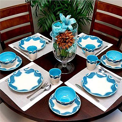 Elama Seashore Breeze 16-Pc. Dinnerware