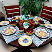 Elama Puesta De Sol 16-Pc. Dinnerware