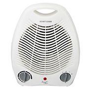 Vie Air 1,500W Portable Dual Setting Coupe Fan Heater - White