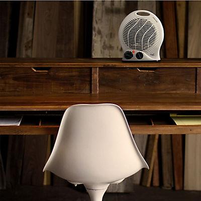 Vie Air 1,500W Portable Dual Setting Round Fan Heater - White