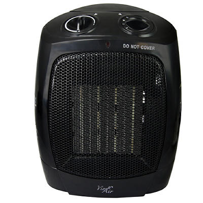 Vie Air 1,500W Portable Dual Setting Square Heater - Black