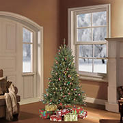 Puleo International 4.5' Pre-Lit Franklin Fir Christmas Tree
