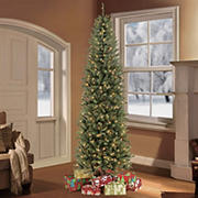 Puleo International 7.5' Pre-Lit Franklin Fir Pencil Christmas Tree