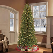 Puleo International 10' Pre-Lit Slim Franklin Fir Christmas Tree