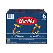 Barilla Tri-Color Rotini and Penne, 6 pk./12 oz.
