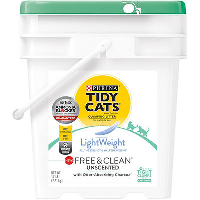 Purina Tidy Cats Lightweight Free and Clean with Ammonia Blocker Clump