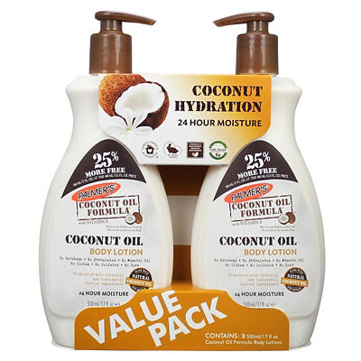 Palmer's Coconut Oil Body Lotion, 2 pk./17 oz.